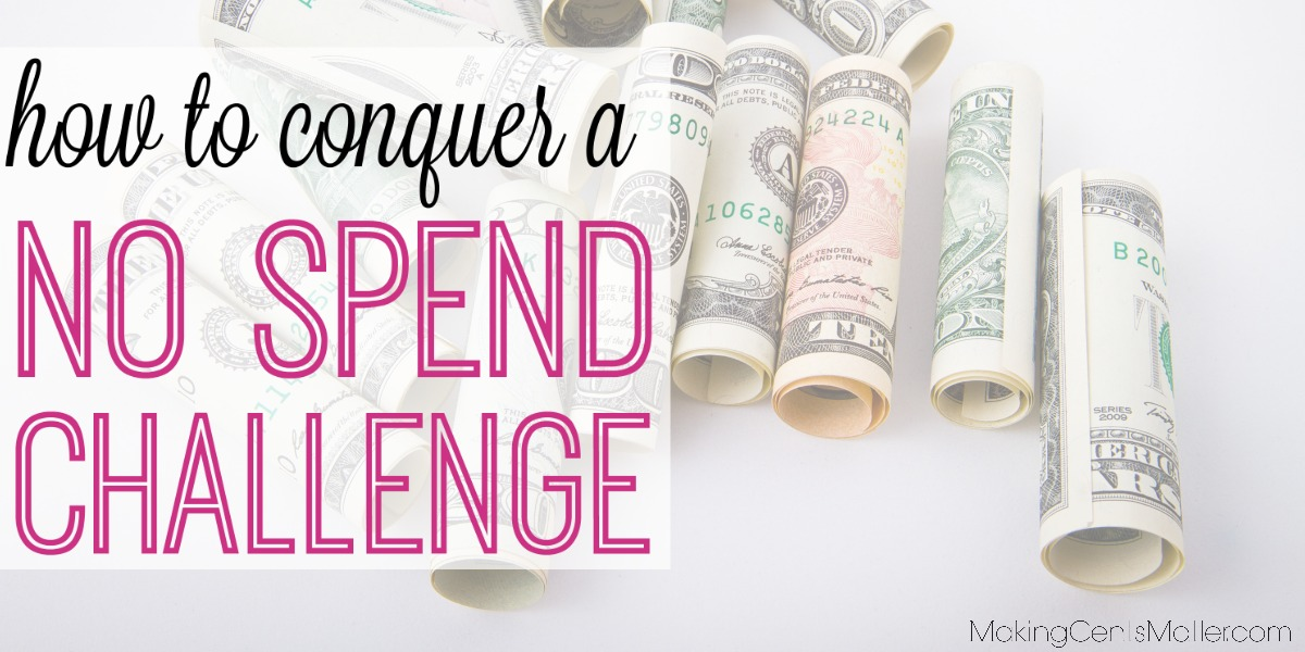 How To Conquer A No Spend Challenge