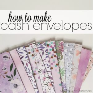 How To Make Cash Envelopes