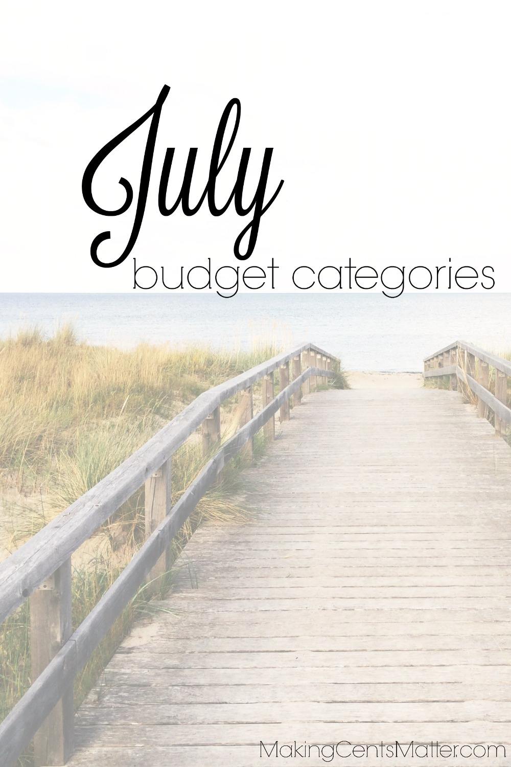 July Budget Categories