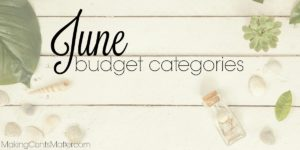 June Budget Categories
