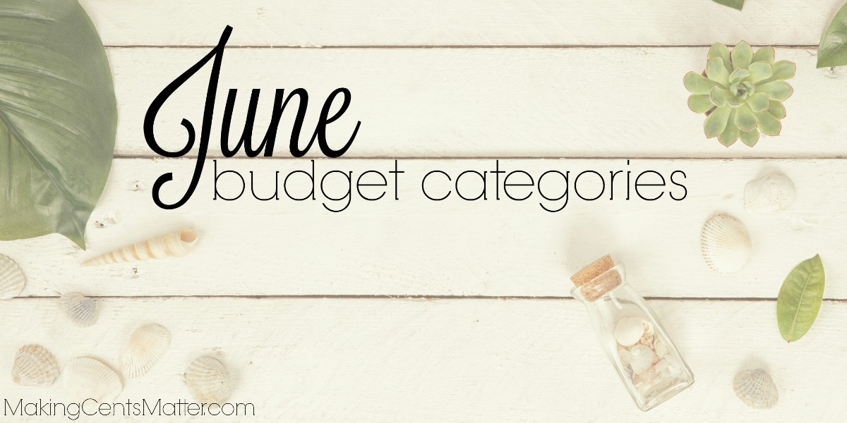 June Budget Categories