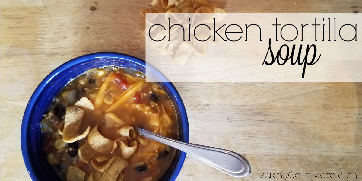 This fast and frugal chicken tortilla soup uses ingredients in your pantry and simplifies what's for dinner tonight.