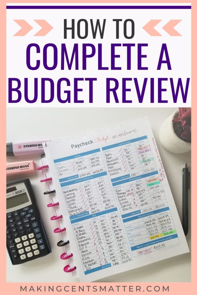 How To Complete A Budget Review