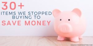 Items We Stopped Wasting Money On