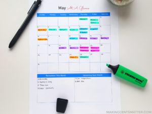 How To Use A Budget Calendar