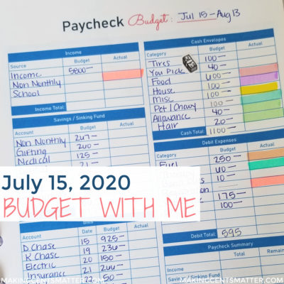 July 2020 Budget With Me