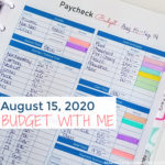 August 15, 2020 Budget With Me