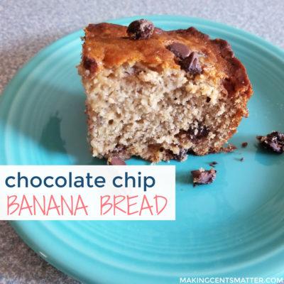 Chocolate Chip Banana Bread Bars